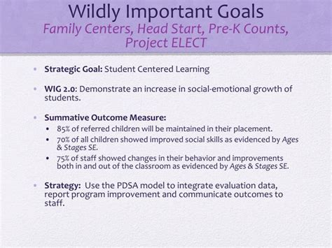 wildly important goals template wildly important goals images search
