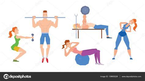 imagenes animadas gym dessin anim 233 sport gym personnes vecteur image