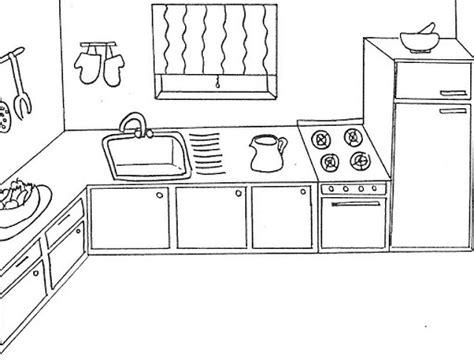coloring pages of a kitchen kitchen coloring