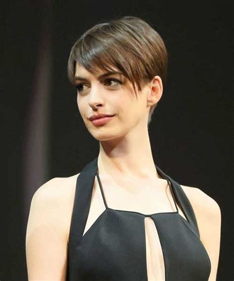 sexy hot back views of pixie hair cuts 20 best anne hathaway pixie cuts short hairstyles 2016