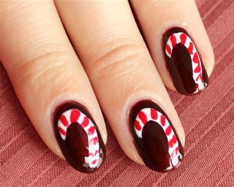 natural nail art tutorial nail art tutorial candy cane nails swatch and learn