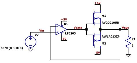 voltage controlled resistor in ltspice how to buffer an op output for higher current part 3