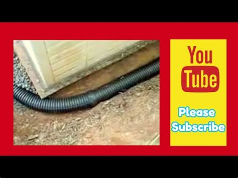 diy simple  effective drainage ditch  built youtube