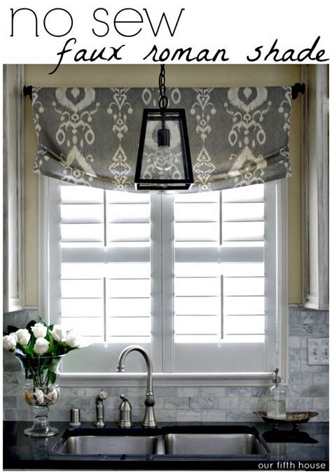 kitchen shades and curtains 25 best ideas about faux roman shades on pinterest
