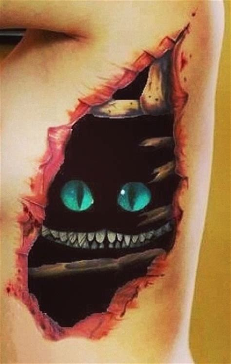 cat tattoo ribs 55 awesome cheshire cat tattoos
