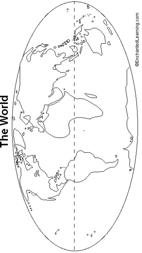Outline Of Continent by World Map Outline Printable