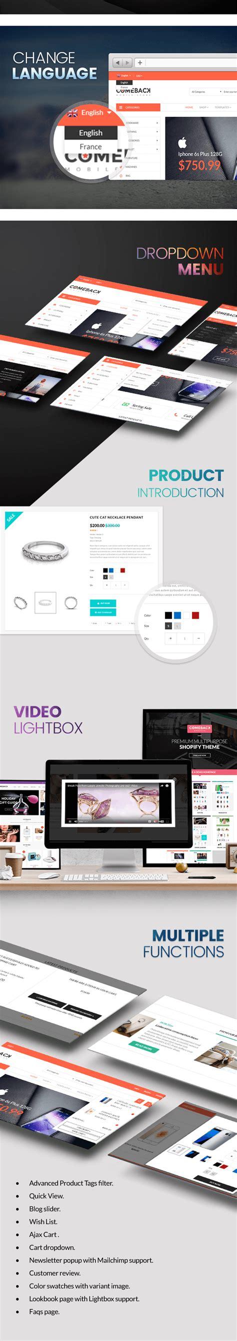 shopify advanced themes comeback advanced shopify theme option drag and drop