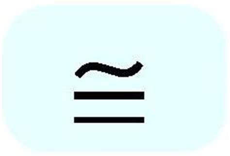 Approximate Math Symbol