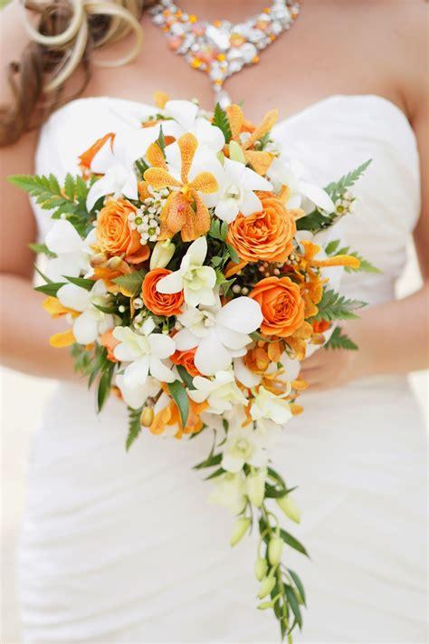 Wedding Bouquet Oahu by Hawaii Wedding Flowers Orange Orchid Bouquet