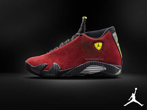 michael jordan ferrari air jordan 14 quot red suede quot sneakernews com