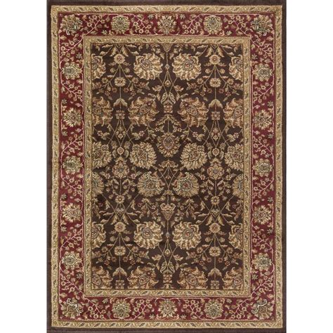 5 Ft Area Rugs tayse rugs elegance brown 5 ft x 7 ft indoor area rug 5338 brown 5x7 the home depot