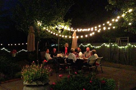 how to light up a backyard party backyard novelty lighting for outdoor entertaining