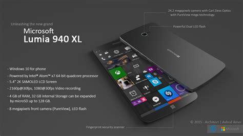 Microsoft Lumia 940 Di Indonesia nuovo microsoft lumia 940 xl un concept stimola l
