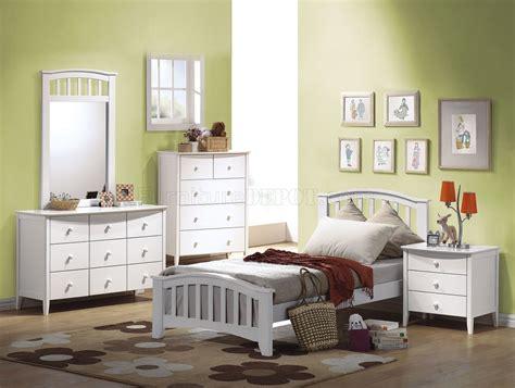 san marino bedroom collection san marino 4pc kids bedroom set 09150t white finish w options