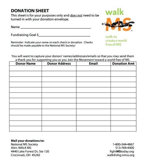 donation sign up sheet template fundraiser sign up sheet template giancarlosopo info
