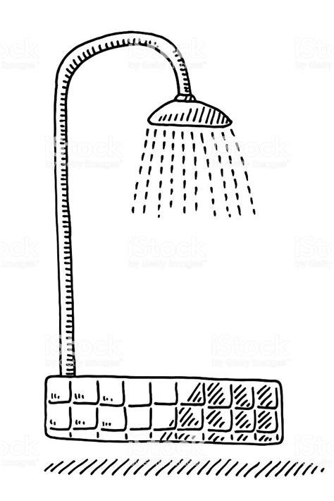 Symbole De Dessin Douche Vecteurs libres de droits et plus