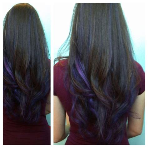 hairstyles pictures highlights purple peekaboo highlights photomy hair styles pictures
