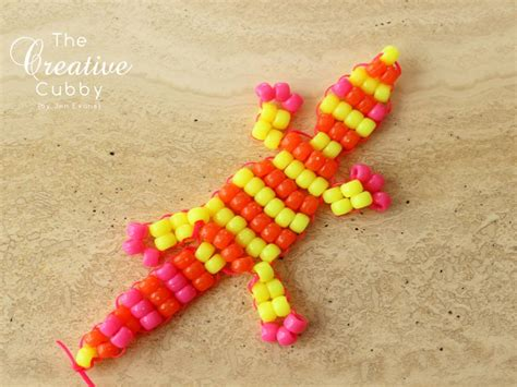 the creative cubby beaded lizards