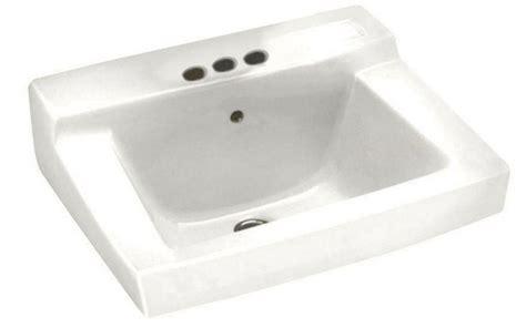 wall mount sink height wall mounted bathroom sink ada height centerset faucet