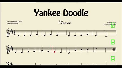 doodle how to play yankee doodle sheet for clarinet folk song