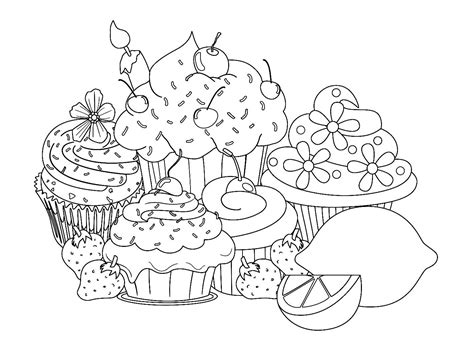 Colouring Book Sweet Princess sweet treats coloring pages
