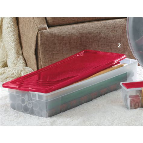 Plastic Wrap For Mattress Storage by Plastic Wrapping Paper Storage Box In Gift Wrap Organizers