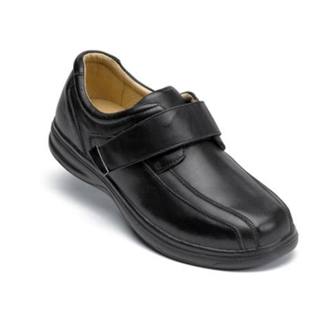 Dress Velcro surefit mens copenhagen black velcro dress shoe
