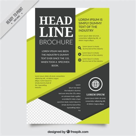 abstract company brochure template vector free download