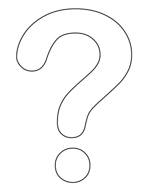 Printable Question Mark | question mark pattern use the printable outline for