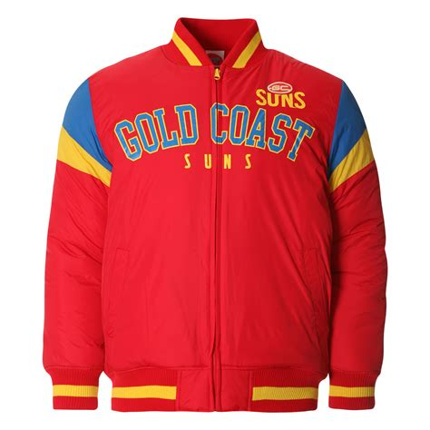 Varsity Suns Jaket Nba Team Ordinal Apparel afl mens fan varsity jacket gold coast suns