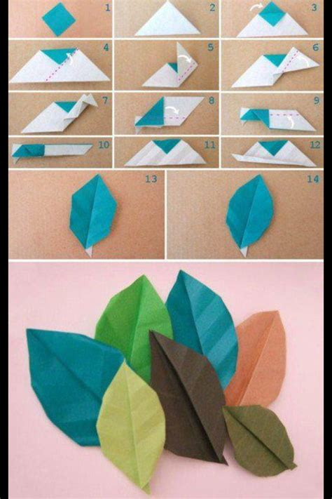 Origami Flower Leaves - origami leaves diy fall festivities