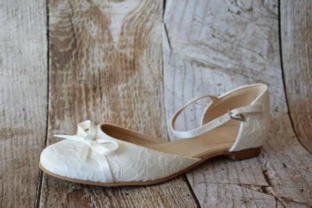 Hochzeitsschuhe Creme Flach by Flache Brautschuhe Ballerinas Spitze Creme Beige