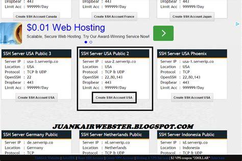 cara membuat akun website gratis cara membuat akun ssh premium gratis juankair webster
