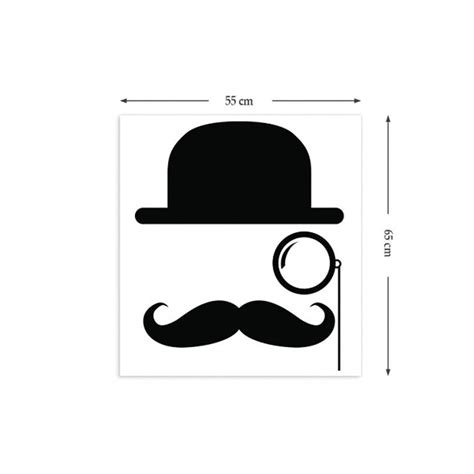 mustache wall stickers bowler hat moustache wall stickers by the binary box