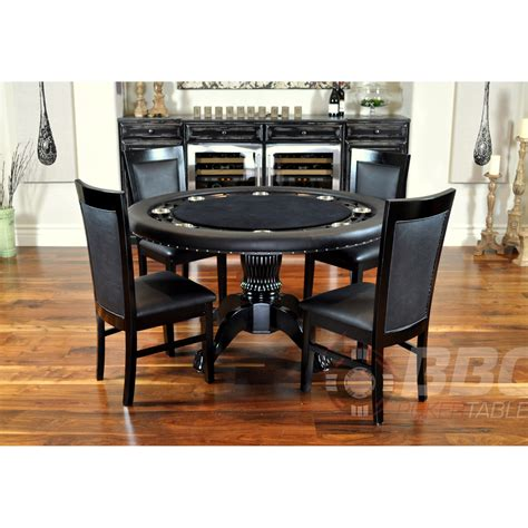 Bbo poker tables nighthawk round card table 4 matching dining chairs bbo1210 dchair the