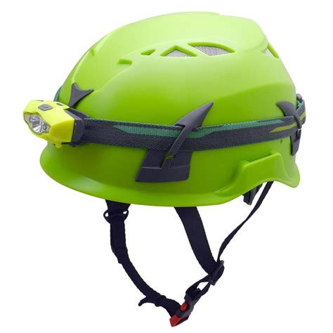 caving helmet with light outdoor ppe caving safety helmet with waterproof led light