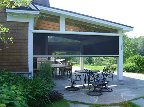 Motorized Awnings For Decks Screened In Porch Rainier Shade
