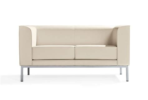 compact sofa 2 seater sofa with painted aluminum feet idfdesign