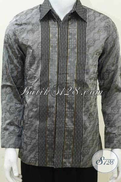 Baju Tenun Troso Jepara baju tenun pria trend model sby warna silver keren elegan