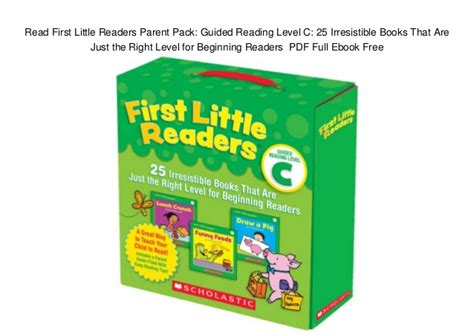 readers parent pack guided reading level a 25 irresistible books that are just the right level for beginning readers read readers parent pack guided reading