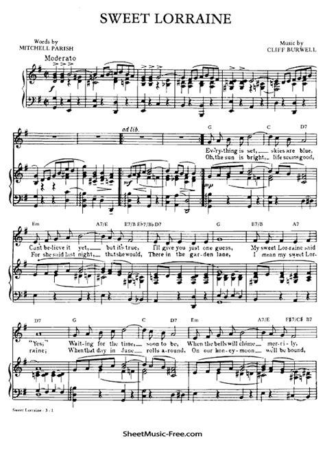 Nat king Cole Sheet Music | ♪ SHEETMUSIC-FREE.COM