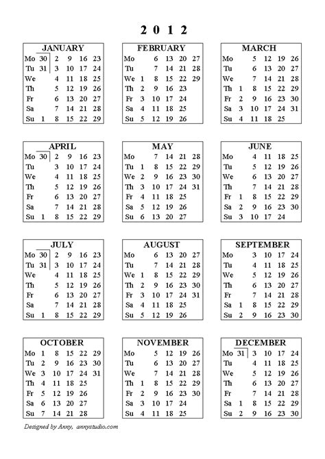 printable yearly calendar for 2012 2008 free printable yearly alendar