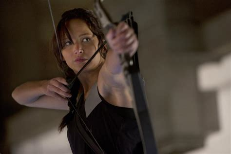 Katniss Top Blouse Hq jumps into in the hunger mockingjay part 1