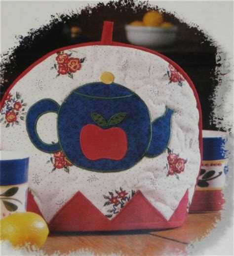 pattern quilted tea cozy tea cozy creative scrap applique quilted pattern leaflet