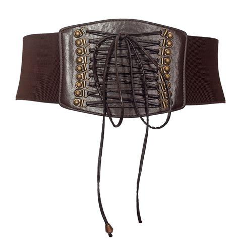 plus size leather belts plus size faux leather corset look elastic belt brown evogues apparel