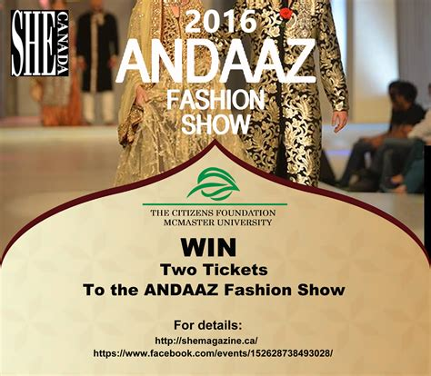 Win Tickets To The Fashion Event Of The Year by Contest Win Two Tickets To Andaaz 2016 Fashion Show