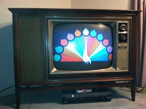 when was the color tv 1966 zenith 25 inch color tv with a modern cabinet