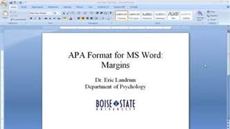 apa template for microsoft word apa format for microsoft word margins