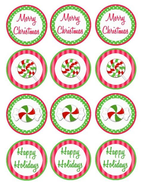 printable small tags christmas candy small party circles printable cupcake