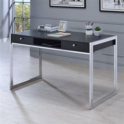 coaster 801352 contemporary computer desk with 3 drawers